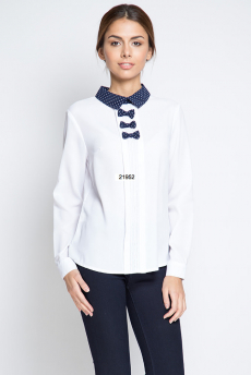 Белая блузка с бантиками Marimay