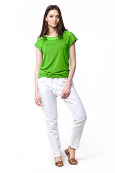 Белые льняные брюки Vilatte со скидкой