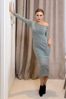 Серое платье лапша RUXARA