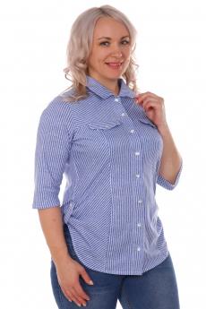 Голубая блузка в полоску ElenaTex