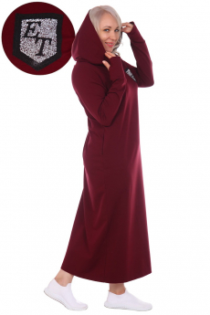 Длинное платье с капюшоном ElenaTex
