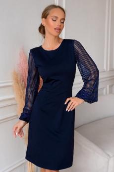 Темно-синее коктейльное платье Open Style